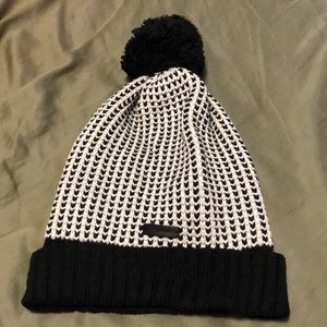 Coach Knitted Beanie Hat With Pompom